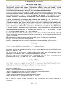 Calcolo capriata legno Palladio (NTC 2018) - relazione di calcolo - excel