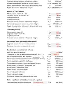 Calcolo capriata legno Palladio + solaio legno (NTC 2018) - puntoni, tiranti, dormienti, caratteristiche, carico superficiale - excel