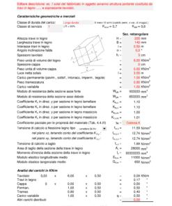 Calcolo capriata legno Palladio + solaio legno (NTC 2018)- calcolo solaio in legno sezione rettangolare - excel