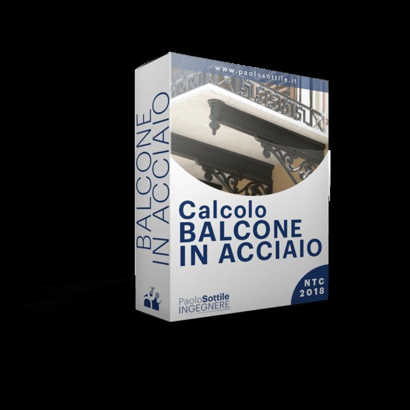 calcolo balcone in acciaio NTC 2018 - excel