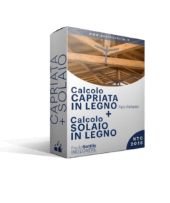 calcolo capriata in legno + solaio in legno NTC 2018 - excel