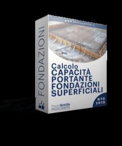 calcolo fondazioni superficiali NTC 2018 - excel