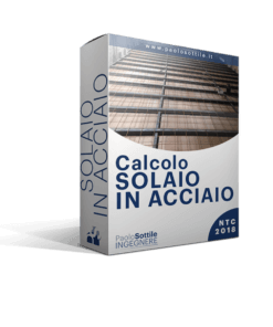 calcolo solaio in acciaio NTC 2018 - excel